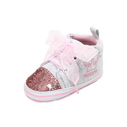 Auxma Babyschuhe Baby Schuhe Sneakers aus Leinwand mit Weichen und Rutschfesten Sohle Für 3-6 6-12 12-18 Monat (12-18 M, XX)