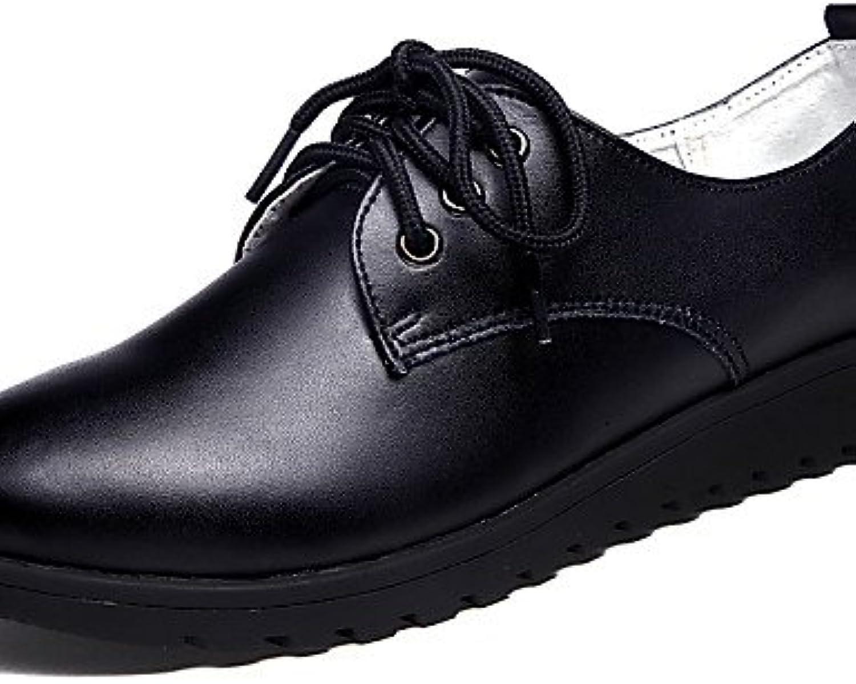 NJX/ 2016 Zapatos de mujer - Tacón Plano - Punta Redonda - Oxfords - Oficina y Trabajo / Vestido / Casual - Cuero...