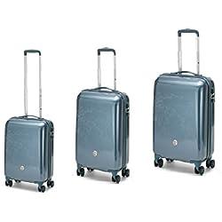 BAULIFICIO RONCATO - Juego de maletas Plateado plateado