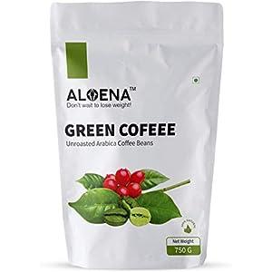 Aloena Green Coffee Beans- Natural and Premium Arabica Grade AAA 750 GM (26.45 OZ)