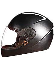 Steelbird SBH-21 Wiz Reflective Full Face Helmet (Large 600 MM, Dashing Black with Plain Visor)