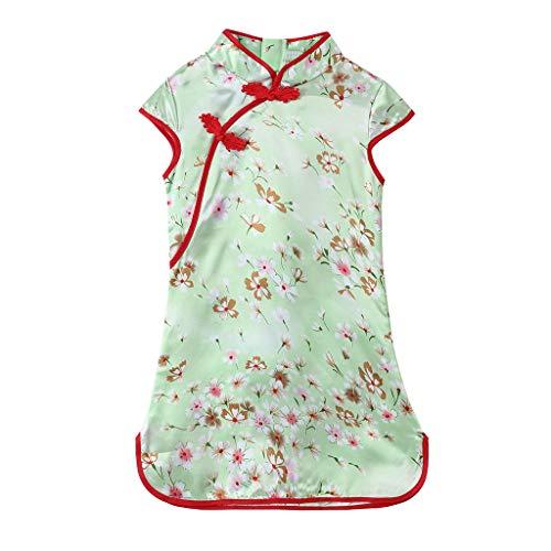 Julhold Kleinkind Baby Mädchen Nette Kinder Blumen Cheongsam Floral Party Prinzessin Polyester Kleider 3-12 Jahre