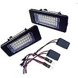 Lot de 2Xenon Blanc 24-smd erreur gratuit LED Lampes lumière de plaque d'immatriculation pour Audi A1A4A5A6A7S5RS5Q5TT/TT RS