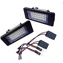 Pack de 2XENON Blanco 24-SMD error libre LED licencia Plate Lámparas de luz para Audi A1A4A5A6A7S5RS5Q5TT/TT RS