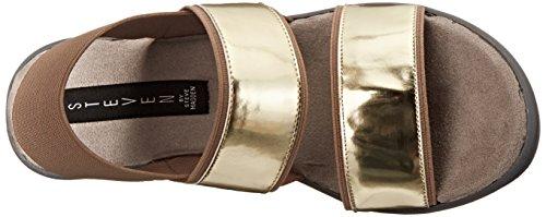 Steven Steve Madden Biianca Synthétique Sandales Compensés Taupe