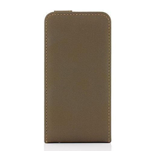iPhone 6 / 6s Étui, Urcover Bookstyle Retro Flip Case Housse Coque Apple iPhone 6 / 6s Téléphone Protection Smartphone Marron Foncé Cover Marron Foncé