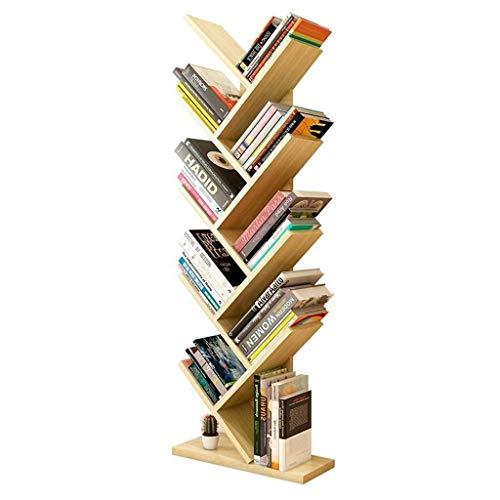 MDBYMX Ausstellungsständer Zeitungsständer Bücherregal Baum Mehrzweck-Bücherregal Speicher Boden Bücherregal einfache stehende Home-Office-Rack Zeitschriftenständer -