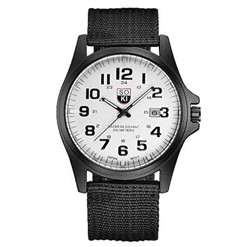 Herren Uhren,Pottoa Fashion Herrenuhr für Militär - Armbanduhr Digital Damen - Automatik Herrenuhr Uhr - Armbanduhr MäNner Quarzuhr Sportuhr Herrenuhr Silikonuhr