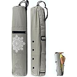 Bolsa para esterilla de yoga, gimnasia, pilates, etc. de Ecoolbuy, de 68x 15cm con correa de lienzo para colgar en el hombro, bolsa de transporte para esterillas de menos de 6mm de grosor