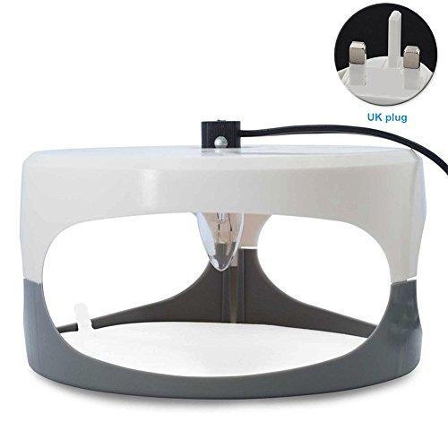 GeKLok - Lámpara de Trampa de pulgas para el hogar, Ropa de Cama y alfombras de más DE 10 m de Radio, UK Plug