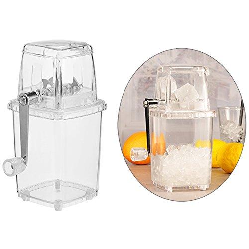 Eis-Zerkleinerer Crusher mit Handkurbel, Fassungsvermogen 1 Liter ? Eiswürfel Zerkleinerer Ice Maker Eiszerkleinerer Handkurbel Eiscrusher