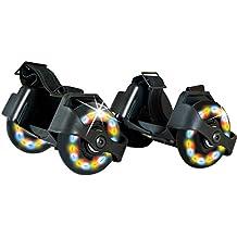 Schildkroet Funsports 970302 Ruedas para Zapatos con Luces LED, Unisex Niños, Negro, M