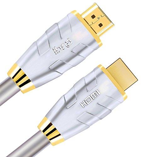 Beste HDMI Kabel 6M Hohe Geschwindigkeit v2.0/1.4a 4K@60Hz 18 / 21Gbps 3D TV 1080p 2160p PS4 Sky HD 4K Ultra HD Ethernet Audio Return Virgin BT PC Laptop Gold Anschlüsse - IBRA Advanced