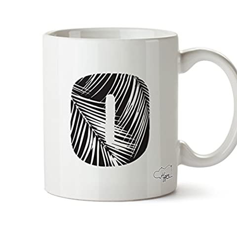 hippowarehouse O Beach Alphabet (Pocket) 284ml Tasse, keramik, weiß, One Size (10oz)