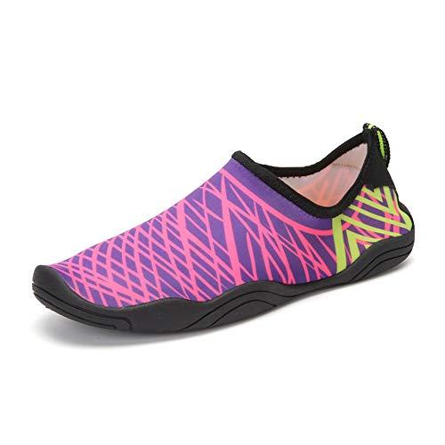 Dr.Taylor Schnelltrocknende Wasserschuhe für Männer und Frauen, Faltbare Leichte Socken Sandalen für Strand, Pool, Surfen, Schwimmen, Wassersport,B3,38