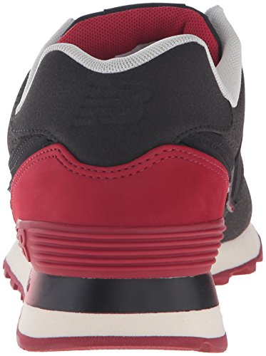 New Balance Mens ML574 Gradient Pack Fashion Sneaker Black/Red