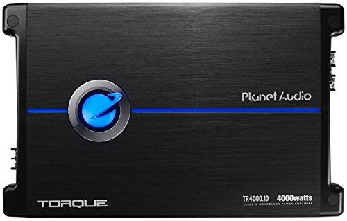 Planet Audio TR4000.1D Drehmoment 4000 Watt, 1 Ohm stabil Class D Mono Auto-Verstärker mit Fernsteuerung Subwoofer