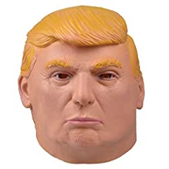 Idea Regalo - Smays Maschere del Presidente Donald Trump Mask (Gomma Lattice, Testa Piena, Occhi Piccoli)
