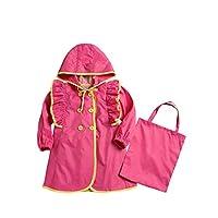Baby Girls Raincoat Princess Cute Baby Student Child Pattern Lotus Leaf Jacket Wide Hooded Cap Waterproof Poncho