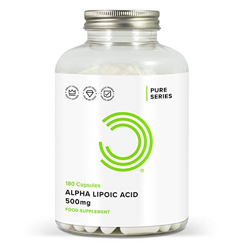 411uq4%2BXglL. SS500  - BULK POWDERS Pure Alpha Lipoic Acid Capsules, 500 mg, Pack of 180