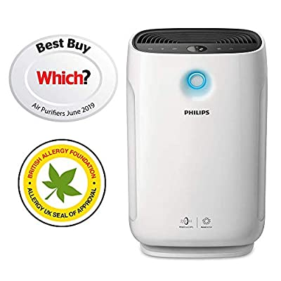 Philips AC2889/60 Series 2000i Connected Air Purifier with Real Time Air Quality Feedback, Anti-Allergen, Reduces Odours and Gases, HEPA and Active Carbon Filters, 56 W