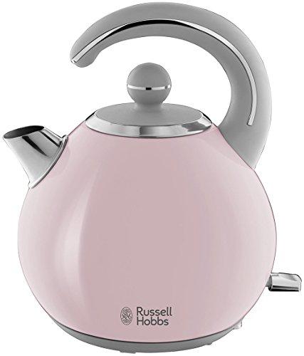 Russell Hobbs 24402-70 Hervidor Bubble de Acero Inoxidable con Detalles en Rosa Pastel, 2300 W, 1.5 litros, De plástico