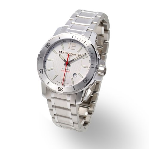 Raymond Weil - 3900 -ST -05307 - Montre Homme - Automatique - Cadran Blanc - Bracelet en Acier Inoxydable