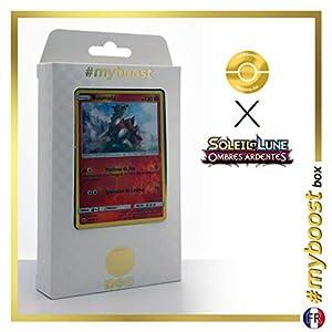 Boumata (Turtonator) 26/147 Holo Reverse - #myboost X Soleil & Lune 3 Ombres Ardentes - Box de 10 Cartas Pokémon Francés