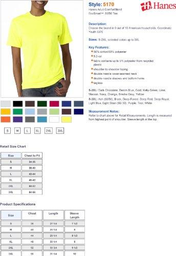 Hanes Mens ComfortBlend EcoSmart Crewneck T-Shirt, Sand Rot - Deep Red