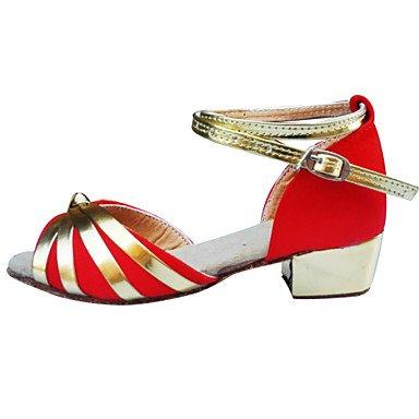 Scarpe da ballo - Non personalizzabile - Da donna / Per bambini - Balli latino-americani - Basso - Raso - Nero / Blu / Marrone / Rosso Blue