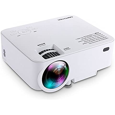 Mini Proiettore db DBPOWER T20 LCD da 1500 Lumen, Proiettore Video Multimedia Home Theater con Supporto 1080P HDMI USB SCHEDA SD VGA AV per Home Cinema PC Portatile Giochi iPhone e Smartphone Android con Cavo HDMI Gratuito