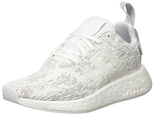 adidas Damen NMD_R2 Sneaker, Weiß Footwear White/Grey Two, 40 EU