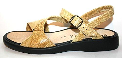 Solidus Natura Plus 562440 051 0077 Damen Sandalen, Weite G Gold (sand)