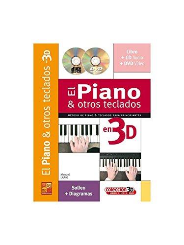 Iniciación al piano y otros teclados en 3D - 1 Libro + 1 CD + 1 DVD por Manuel Lario
