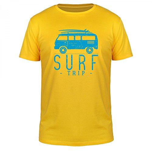 FabTee Surf Trip - Herren Organic T-Shirt - Verschiedene Farben - Größen S-3XL, Größe:L;Farbe:Gelb (Surf-gelb T-shirt)