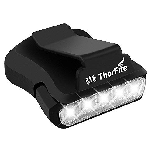 Linterna de Sombrero, Luz de Cabeza con 5 LED, Linterna Frontal de 30 Lumenes, para la Caza, Camping, Pesca y Actividades al Aire Libre