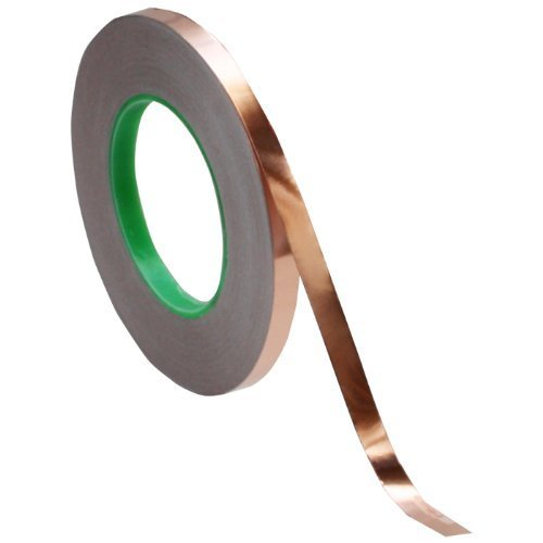 3/8 inch x 55 yds Copper Foil Tape - (10mm x 50m) - EMI Shielding Conductive Adhesive by Tapes Master