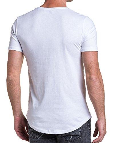 BLZ jeans - Shirt weiß Mann hob Schädel Weiß