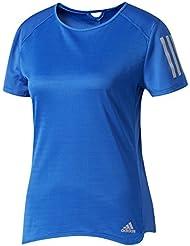 adidas Response T-Shirt Femme, Bleu, FR : M (Taille Fabricant : M)
