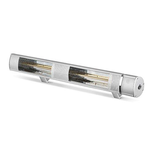 blumfeldt Gold Bar 3000 • Infrarot-Heizstrahler • Wand-und-Decken-Heizstrahler • 1000-3000 W • 3 Wärmestufen • IP65 Schutzart • gezielte Wärmeabgabe • blendungsfreie Wärme • Fernbedienung • Aluminium - 6