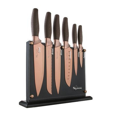7 Piece Titanum Coated Set by New England Cutlery