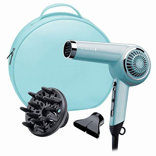 Retro-modernen Geräten (Remington Haartrockner Retro Bombshell Blue D4110OB, 2000 Watt, Keramikgitter für eine gleichmäßige Wärmeverteilung, Stylingdüse, Diffusor, blau)