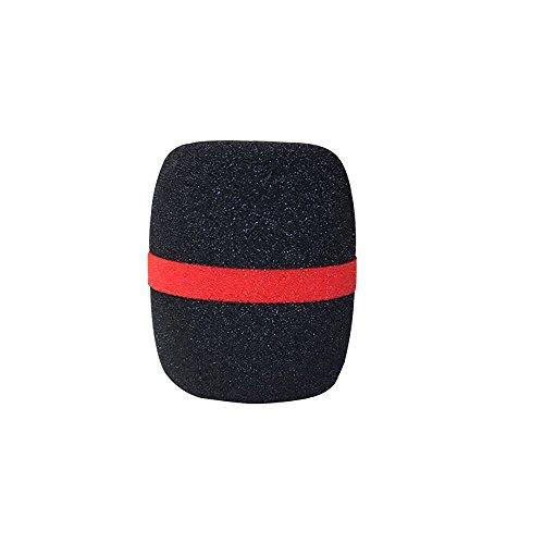 TONVER Mic Parabrisas, Micrófono de Fase de Mano Parabrisas Esponja Funda para Micrófono Negro Negro 7cm