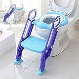 WULAU Töpfchentrainer Toiletten-Trainer, Kinder Töpfchen Kinder-Toilettensitz mit Leiter Töpfchen Sitz mit Treppe 75 Kg belastbar