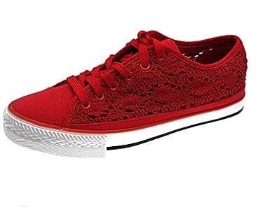 Victoria Inglesa Lona Sneaker Donna Rosso Red 40 V0S