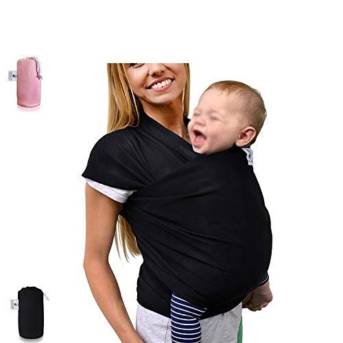 bag Maternal babyBabytragetuch - elastisches Tragetuch für Früh- und Neugeborene Kleinkinder - inkl. Baby Wrap Carrier Anleitung - Farbe grau (Pet Wrap Carrier)