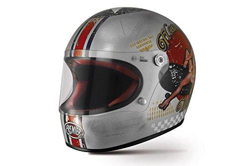 Premier APINTTROFIBPSS000L Casco Moto, L