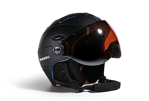 Moon MS95 Schwarz (Black) Ski Helmet Snowboard Helm, CE, M / L / XL Lieferung von DE ! (L (58-61cm))