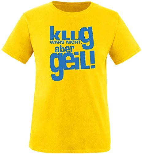 Luckja Klug war es nicht aber Geil Herren Rundhals T-Shirt Gelb/Blau