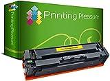 Printing Pleasure 203X Jaune Toner Compatible pour HP Color Laserjet Pro M254 dw/nw MFP M280 nw MFP M281 fdn/fdw | CF542X 2500 Pages